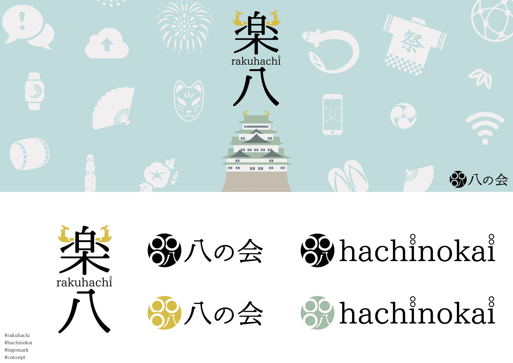 先日MOVEDがオフィシャルスポンサーとして務めた名古屋のイベント「楽八」のデザインも全面的に、吉藤のプロデュースになっております。