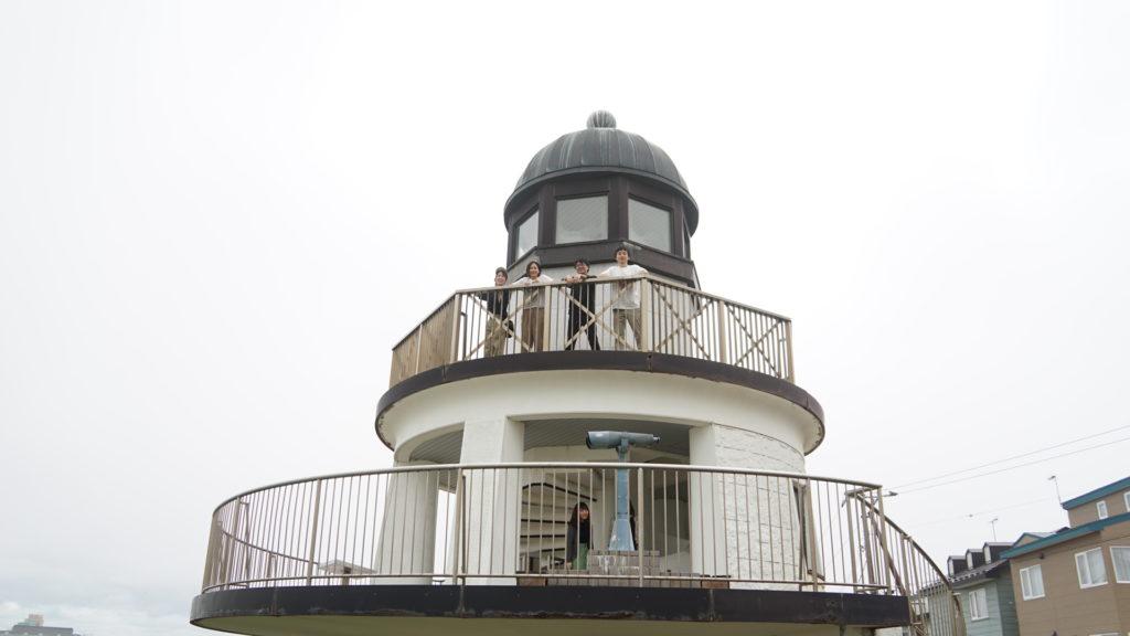 神社のすぐ隣には、灯台型の展望台がある米町公園があり、釧路市内を一望できます。